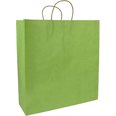 Colour Paper Shopper, Bright Green Pinstripe, Saville, 200/Box