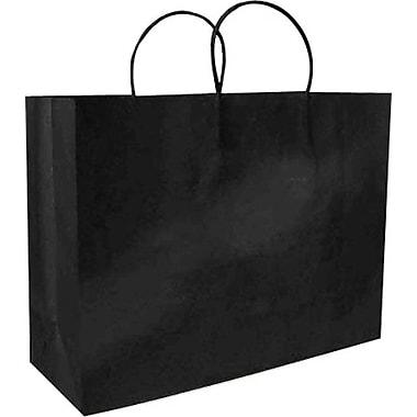 Colour Paper Shopper, Black, Fashion, 200/case