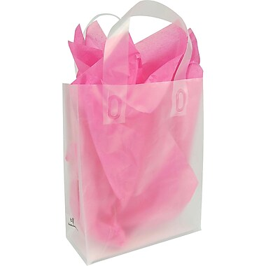 Oxo-biodegradable Frosted Clear Shopping Bag, 8