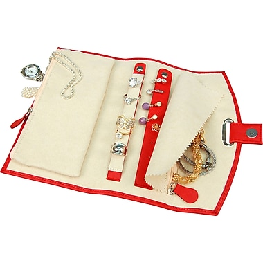 Fiona Travel Jewellery Folder, Red