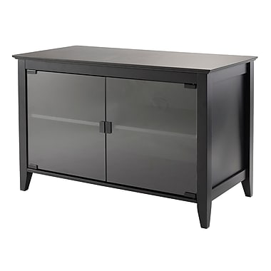 Winsome Vidal Double Glass Doors TV Stand, 31.50