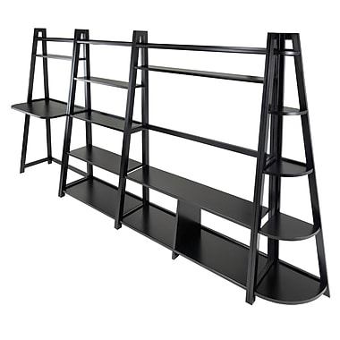 Winsome – Bureau « travail et plaisir » 4 pièces avec étagère en coin et meuble pour téléviseur Adam