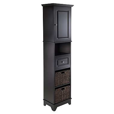 Winsome Wyatt Tall Cabinet with Baskets, Drawer and Door