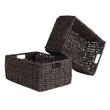 Winsome Granville Foldable Baskets, Medium, 2/Pack