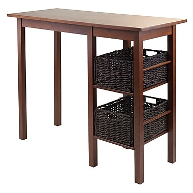 Winsome Egan 3-Piece Breakfast Table Set with 2 Baskets