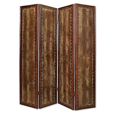 Screen Gems 86'' x 76'' Reptillian Screen 4 Panel Room Divider