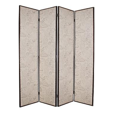 Screen Gems Navarro 84'' x 80'' 4 Panel Room Divider