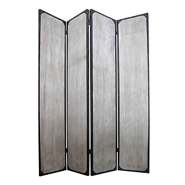 Screen Gems Industrial 83'' x 63'' 4 Panel Room Divider