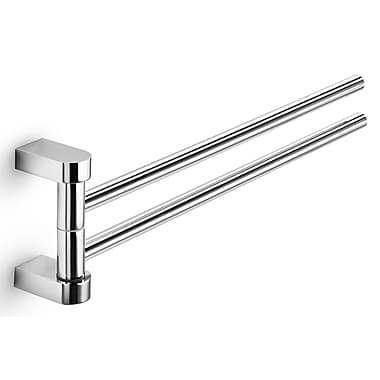 WS Bath Collections Muci Double Wall Mounted Towel Bar