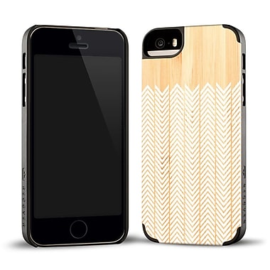 Recover Case for iPhone 5/5s Bamboo/Black, WHTFTRBMBO5 Feather Wood