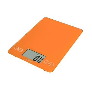Escali Arti Glass Digital Scale, 15 Lb 7 Kg, Overly Orange