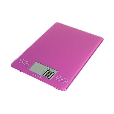 Escali Arti Glass Digital Scale, 15 Lb 7 Kg, Poppin' Pink