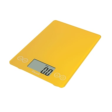 Escali Arti Glass Digital Scale, 15 Lb 7 Kg, Solar Yellow