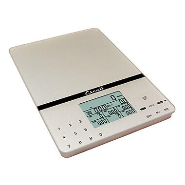Escali Cesto Portable Nutritional Tracer, 11 Lb 5 Kg, Silver