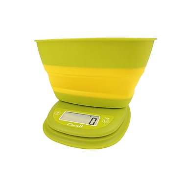 Escali Pop Digital Scale, 11 Lb 5 Kg, Garden Yellow