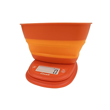 Escali Pop Digital Scale, 11 Lb 5 Kg, Vintage Orange