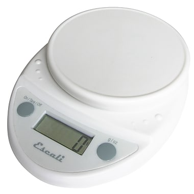 Escali Primo Digital Scale, 11 Lb 5 Kg, White