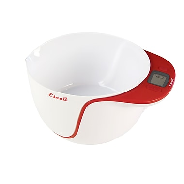 Escali Taso Mixing Bowl Scale, Apple Red 11 lb/ 5Kg