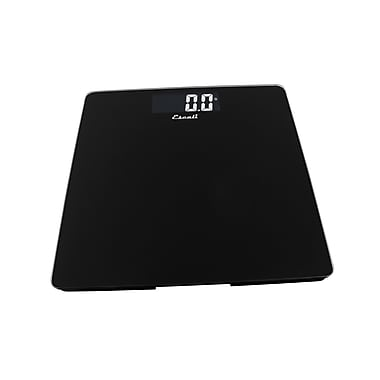 Escali Glass Platform Bathroom Scale, Black, 440 Lb 200 Kg