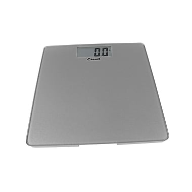 Escali Glass Platform Bathroom Scale, Silver, 440 Lb 200 Kg