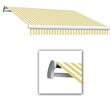 Awntech® Maui® LX Left Motor Retractable Awning, 10' x 8', Yellow/White