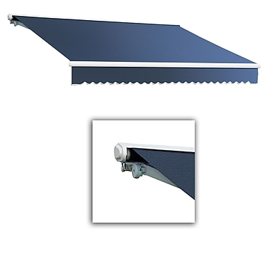 Awntech® Galveston® Right Motor Retractable Awning, 8' x 7', Dusty Blue