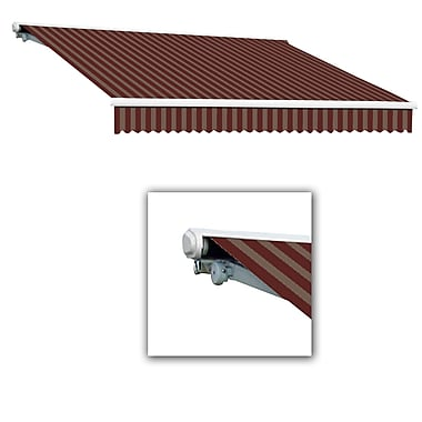 Awntech® Galveston® Manual Retractable Awning, 10' x 8', Burgundy/Tan