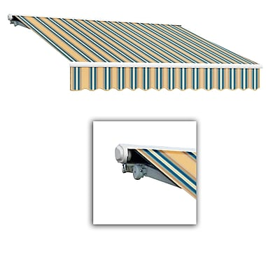 Awntech® Galveston® Left Motor Retractable Awning, 8' x 7', Tan/Teal