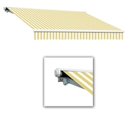 "Awntech® Galveston® Right Motor Retractable Awning, 24' x 10' 2"", Yellow/White"