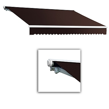 Awntech® Galveston® Left Motor Retractable Awning, 8' x 7', Brown