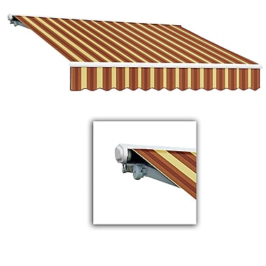 Awntech® Galveston® Left Motor Retractable Awning, 8' x 7', Burgundy/Tan Wide