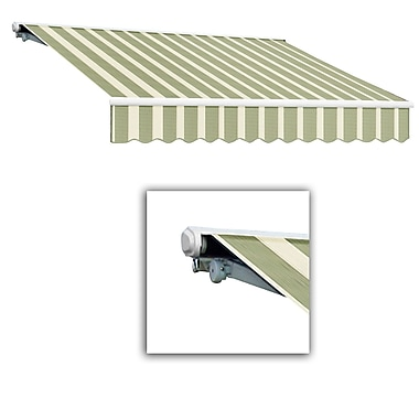 Awntech® Galveston® Left Motor Retractable Awning, 8' x 7', Sage/Linen/Cream