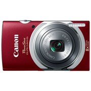 Canon® PowerShot ELPH 140 IS 16MP 8x Optical Zoom 2.7 LCD Compact Digital Camera, Red