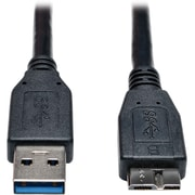 Tripp Lite® SuperSpeed 6' USB 3.0 A To Micro-B M/M Device Cable, Black