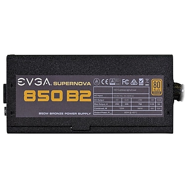 EVGA® SuperNOVA 110-B2-0850-V1 850 B2 Power Supply, 850 W