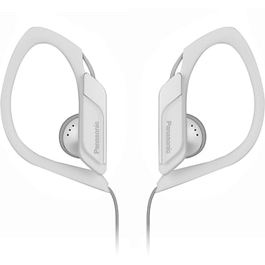 Panasonic® RP-HS34 Water Resistant Sports Clip Earbud Headphone, White