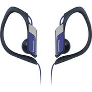 Panasonic® RP-HS34 Water Resistant Sports Clip Earbud Headphone, Blue