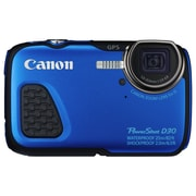 Canon® PowerShot D30 12.1MP 5x Optical Zoom Compact Digital Camera, Blue