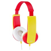 JVC® HAKD6P New Kid Style Over Ear Headphone, Red