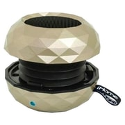SDI Technologies® iHome IBT65 Bluetooth Rechargeable Mini Speaker System, Metallic Champagne Finish
