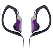Panasonic® RP-HS34 Water Resistant Sports Clip Earbud Headphone, Purple