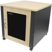 StarTech.com® 12U Quiet Office Server Cabinet With Wood Finish/Casters And Fans