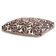 Majestic Pet Polyster Plantation Rectangle Dog Pet Bed, Chocolate, Small
