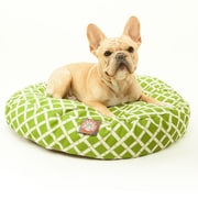 Majestic Pet Polyester Bamboo Round Dog Pet Bed, Sage, Small