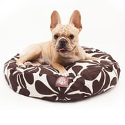 Majestic Pet Polyster Plantation Round Dog Pet Bed, Chocolate, Small