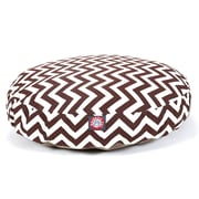 Majestic Pet Polyster Chevron Round Dog Pet Bed, Chocolate, Small