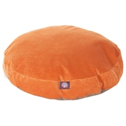 Majestic Pet Villa Collection Micro-Velvet Round Dog Pet Bed, Orange, Small