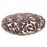 Majestic Pet Polyster Plantation Round Dog Pet Bed, Chocolate, Medium