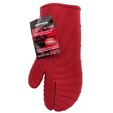 Marathon Management Silicone BBQ Glove, Red