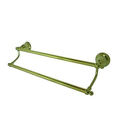 Elements of Design English Vintage 24'' Wall Mounted Dual Towel Bar; Polished Brass